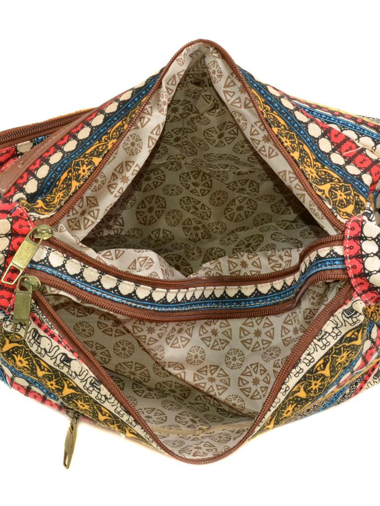 Сумка Женская Рюкзак ткань Индия 6084 YH772-2 - фото 4