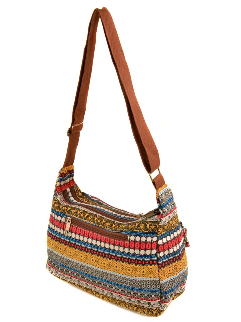 Сумка Женская Рюкзак ткань Индия 6084 YH772-2 - фото 3