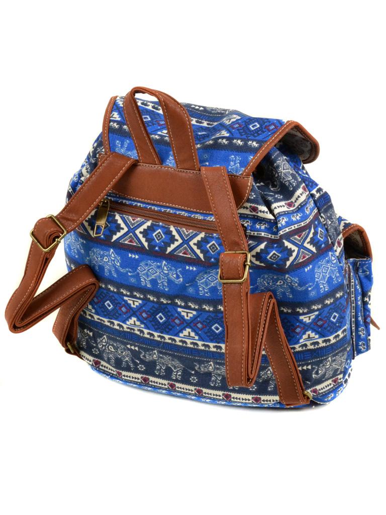 Сумка Женская Рюкзак ткань Индия 6110 YH 766-2