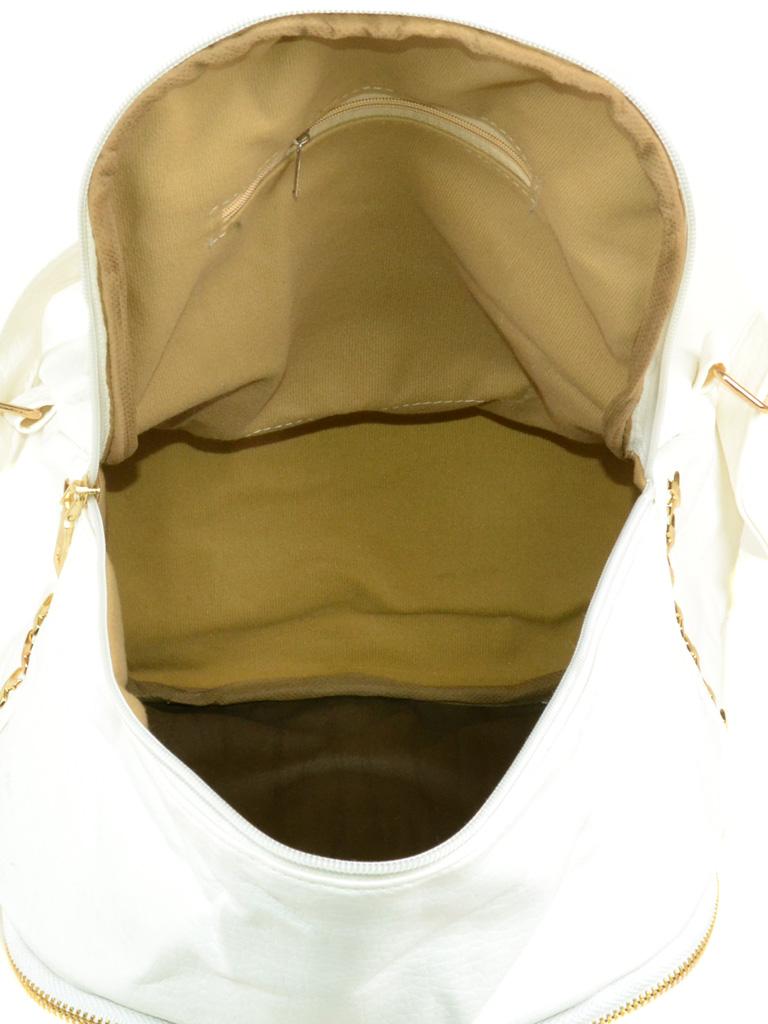 Сумка Женская Классическая иск-кожа 3-01 D137 white