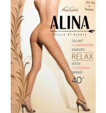 Колготки Женские капрон Alina 796 40 DEN natural 4(р) Распродажа