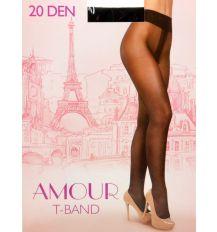 Колготки Женские капрон Amour 20 DEN 2-size nero 2(р) Распродажа