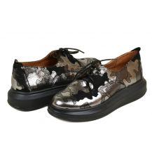 Туфли кожа 31701 Lacs black camouflage