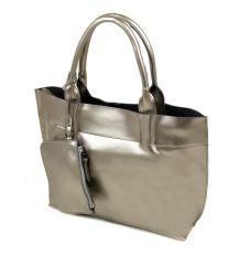 Сумка Женская Классическая кожа Podium 6-01 8546 silver-grey
