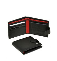 Кошелек Classik-color кожа DR. BOND MS-19 black-red