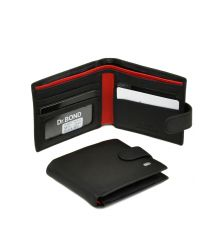 Кошелек Classik-color кожа DR. BOND MS-20 black-red