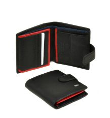 Кошелек Classik-color кожа DR. BOND MS-22 black-red-blue