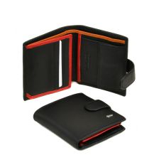 Кошелек Classik-color кожа DR. BOND MS-22 black-red-orange