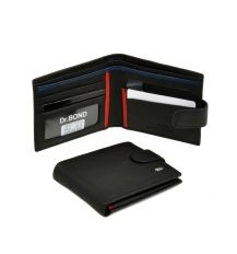 Кошелек Classik-color кожа DR. BOND MS-23 black-red-blue
