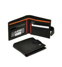 Кошелек Classik-color кожа dr.Bond MS-23 black-red-orange
