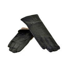 Перчатка Женская кожа МариClassic F24/17 мод12 black шерсть