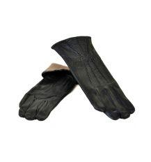Перчатка Женская кожа МариClassic F24/17 мод9 black шерсть