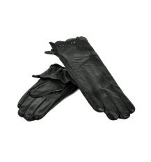 Перчатка Женская кожа МариClassic F24-17/1 мод5 black флис