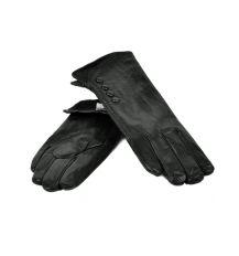 Перчатка Женская кожа МариClassic F24-17/1 мод6 black флис