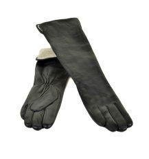 Перчатка Женская кожа МариClassic F25/17 40см black шерсть