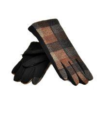 Перчатка Женская стрейч МариFashion F20/17 тачскрин black плюш