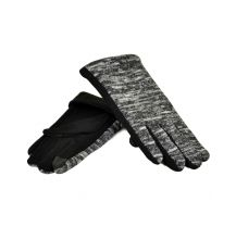 Перчатка Женская стрейч МариFashion F20/2-17 тачскрин black плюш