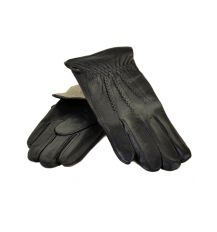 Перчатка Мужская кожа МариClassic M21/17 мод1 black шерсть