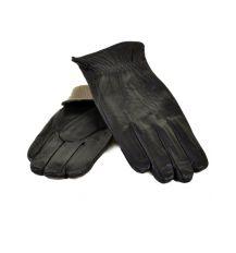 Перчатка Мужская кожа МариClassic M21/17 мод2 black шерсть