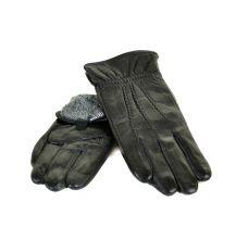 Перчатка Мужская кожа M21-17/1 мод1 black махра