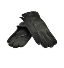Перчатка Мужская кожа МариClassic M21-17/1 мод2 black махра