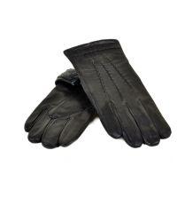 Перчатка Мужская кожа МариClassic M21-17/1 мод4 black махра