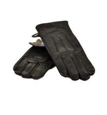 Перчатка Мужская кожа МариClassic M22/17 мод4 black Шерсть