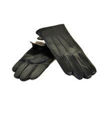 Перчатка Мужская кожа МариClassic M31/17 мод3 black шерсть