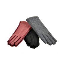 Перчатка Женская стрейч F19/17 мод4 color mix плюш