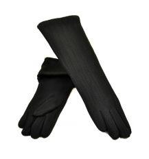 Перчатка Женская стрейч F19/17 40см black плюш