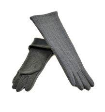 Перчатка Женская стрейч F19/17 40см grey плюш
