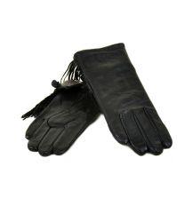 Перчатка Женская кожа МариClassic F24 Шерсть мод-1 black