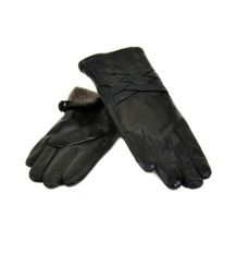 Перчатка Женская кожа МариClassic F24 Шерсть мод-11 black