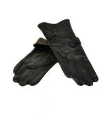 Перчатка Женская кожа МариClassic F24 Шерсть мод-3 black