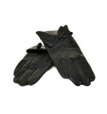 Перчатка Женская кожа МариClassic F24 Шерсть мод-7 black