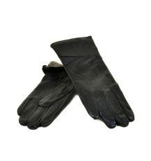 Перчатка Женская кожа МариClassic F24 Шерсть мод-9 black
