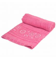 Полотенце Лицевое махра 70185 pink