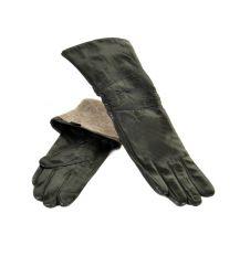 Перчатка Женская кожа F25/17 40см мод3 black шерсть