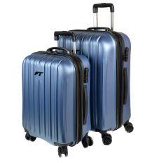Дорожная Чемодан 2/1 ABS-пластик 8386 blue змейка