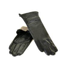 Перчатка Женская кожа F25-17/2 33см мод4 black шерсть