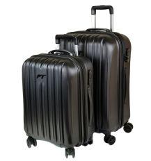 Дорожная Чемодан 2/1 ABS-пластик 8386 black змейка