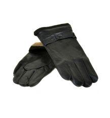 Перчатка Мужская кожа Flagman M26 Шерсть мод-6 black