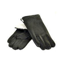 Перчатка Мужская кожа M23-18 мод2 black кролик