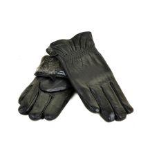 Перчатка Мужская кожа M24-18 мод2 black серый мех