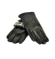 Перчатка Мужская кожа M24-18 мод3 black серый мех