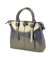 Сумка Женская Классическая кожа ALEX RAI 10-04 330 pearlscent-grey-gold