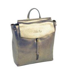 Сумка Женская Рюкзак кожа ALEX RAI 10-04 3206 pearl-grey-gold