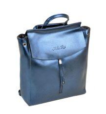 Сумка Женская Рюкзак кожа ALEX RAI 10-04 3206 blue