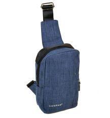 Сумка Мужская На Плечо нейлон Lanpad 815-1 blue