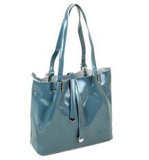 Сумка Женская Классическая кожа-лак ALEX RAI 03-3 L317 l-blue